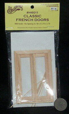 Classic French Doors 1:24 House #H6011 Dollhouse Miniature