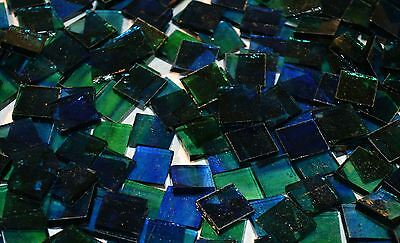 """100 1/2"""" Planet Earth Blue Green Stained Glass Mosaic Tiles"""