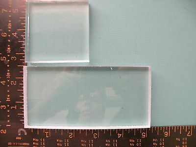 Acrylic Blocks - Set of (2) For Mounting Unmounted Rubber Stamps 2.5x5 & 2.5x2.5