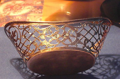BASKET Vintage Antique Silver Depose' 800  Basket. Late1800's to Early 1900's.