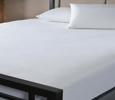 Fitted Waterproof Cotton Mattress Protector S-King/King/Queen/Double/K-Sgl/Sgl
