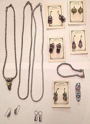 Sarda Jewelry Wholesale Lot Sterling Silver gemstone new old stock