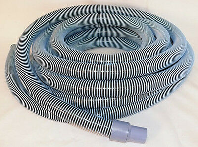 """Deluxe Pool Vacuum Vac Hose with Swivel Cuff, 25 Feet(25') by 1-1/2 Inch (1.5"""")"""