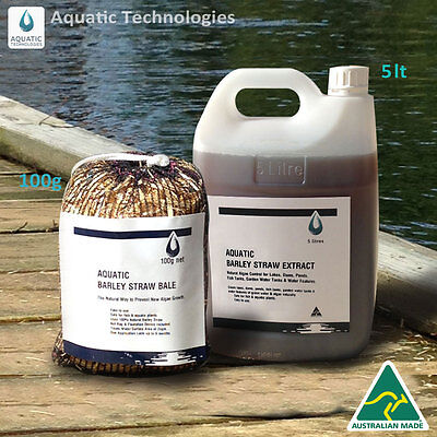Barley Extract 5lt+Barley Straw Bale 100g - To suppress algae growth in ponds