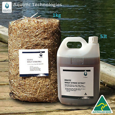 Barley Extract 5lt + Barley Straw Bale 1kg -To suppress algae growth in ponds