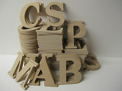 Wooden Letters Premium Quality 95mm High 6mm Thick Times Font