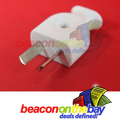 Rewireable Mains 2 Pin Power Plug Geared Variable Twist Pins for overseas use