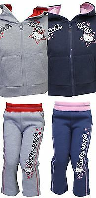 Hello Kitty Girls Hoodie Sweater Top Bottoms Joggers Age 2 3 4 5 6 7  Free P&p