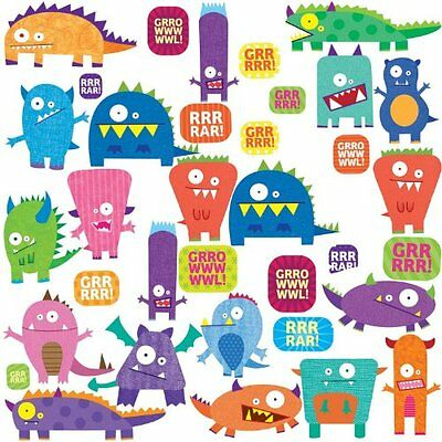 RoomMates RMK1472SCS Monsters Peel and Stick Wall Decals , New, Free Shipping