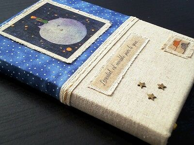 2015 Planner diary The Little Prince Le Petit Prince Handmade fabric cover