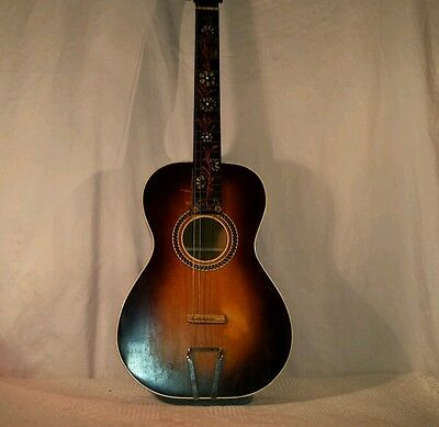 EARLY 1900s MARTIN? ACOUSTIC PARLOR GUITAR W/GEIB CASE INCLUDED~ NICE FOR AGE~