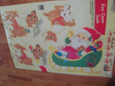Vintage Eureka Here comes Santa Wall Decoration New