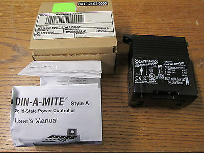 NEW NOS Watlow DA10-24K2-0000 Solid State Power Control 18A 100-240VAC 50/60H