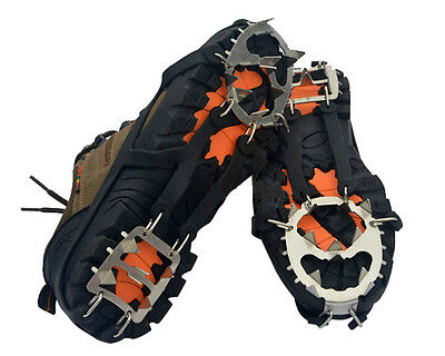 18-Teeth Ice/Snow Boot Shoe Covers Spike Cleats Crampons Gripper Climbing US