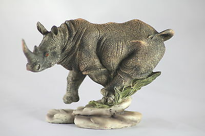 Charging Rhinoceros, African Wildlife, Realistic Collector's Present. Rhino