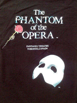 THE PHANTOM of the OPERA PANTAGES THEATRE TORONTO, CANADA shirt adult large show