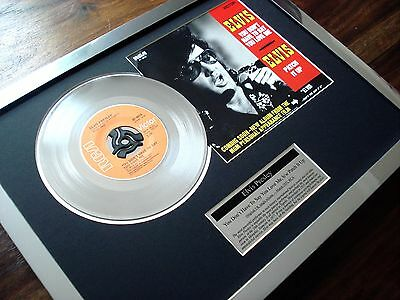 """Elvis Presley You Don't Have To Say You Love Me Platinum Disc 7"""" Single Award"""