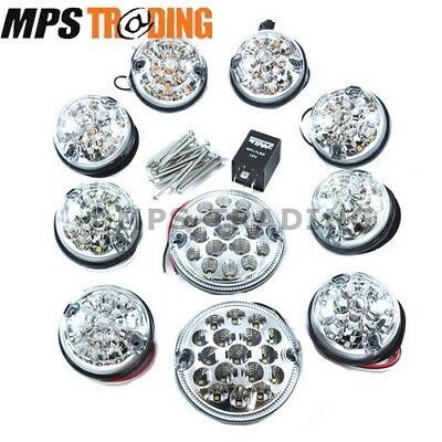 Land Rover Defender Clear Led Position Light Set With Relay - Mpsledkit9