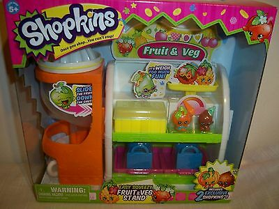 *SHOPKINS* ~ Easy Squeezy FRUIT & VEG Stand~ 2 Exclusive Shopkins!!!