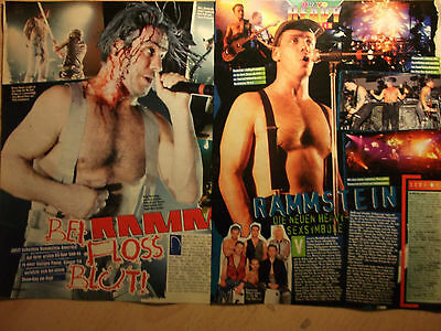 2 german clipping RAMMSTEIN SHIRTLESS LINDEMANN ROCK POP BOY BAND BOYS MAN HUNK