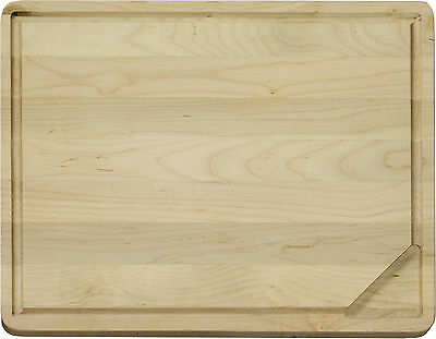 Vance Large Reversible Hardwood Cutting Board with Gravy Groove & Well, 8R1814W