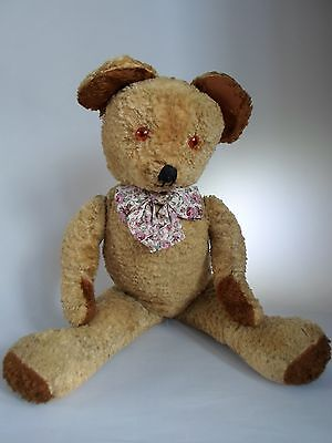Antique Vintage Teddy Bear 1950's British Possibly Chad Valley or Pedigree.