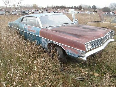 68 Ford Galaxie 500 R. Front Door Glass 2 Dr Ftbk 1968 198011
