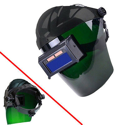 Pro Solar Auto Darkening Len Welding Helmet Semi-open Face Shield Mask Black