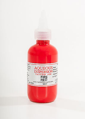 Tattoo Ink - Fire Red Professional Quality Ink Inspire Uk