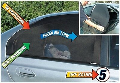 2 Pack Car Auto Rear Window Sun Shade UV Mesh Children Baby Protect Screen