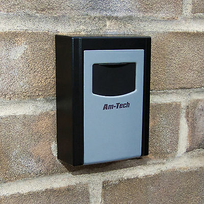 Outdoor Wall Mounted Safe Key Box With Lock & Waterproof Cover Home/car/keys
