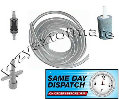 Aquarium Air Pump Accessory Kit (Airline, Air Stone, Check Non Return Valve and)