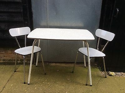 Vintage Formica Kitchen Dining Table And 2 Chairs 1950s Retro