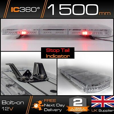 "1.5m LED Amber Recovery Hazard Light Bar - 1500mm 59"" STOP / TAIL / INDICATORS"