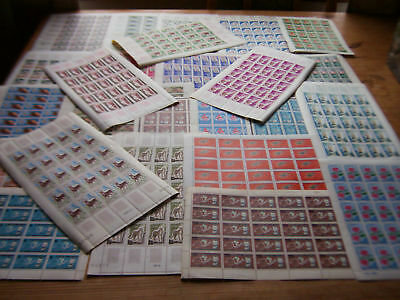 25 DIFF U/M SHEETS OF STAMPS FROM FRENCH COLONIES,NICE.