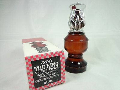 Vintage Avon Wild Country After shave Chess Piece bottle collectible The King