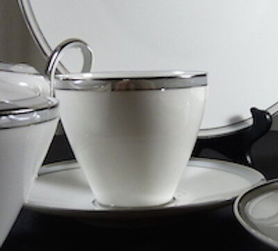 "Heinrich/H & C China Pattern ""Grey Luster"" Cup & Saucer for 10"