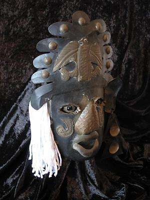 Old Mexican Metal Face Mask… Unique collector's Item...