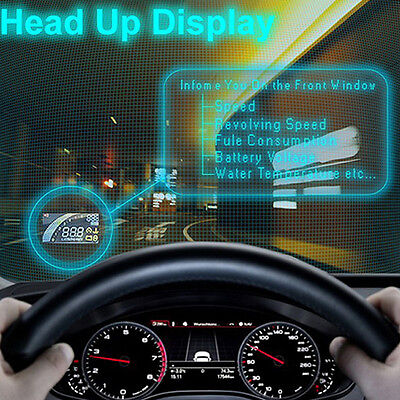Universal HUD Car Head Up Display System OBDⅡ Safe Driving Overspeed Warning OK