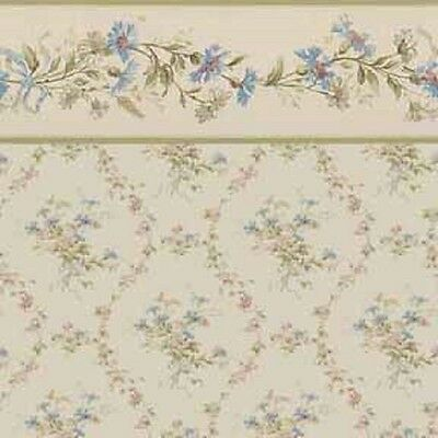"""Dollhouse Wallpaper  """" Laurie in Antique Floral  """""""