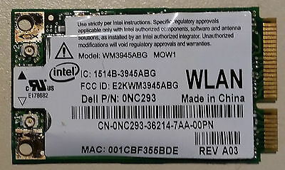 Intel WM3945ABG laptop WiFi adapter