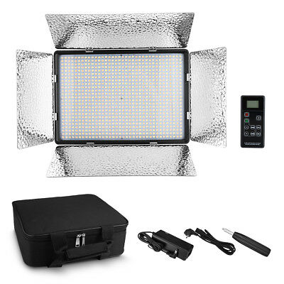 900 LED Professional Photography Studio Video Light Panel+Remote for Canon Nikon