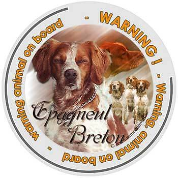 Circular Dogs sticker attention Brittany on board