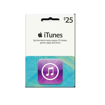 $25 iTunes Gift Card - Music, Movies, Apps, Games & More!