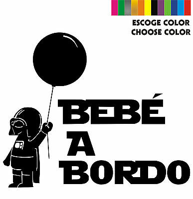 Sticker Vinilo - BEBE A BORDO Star Wars - Vinyl - Pegatina - Coche - Darth Vader