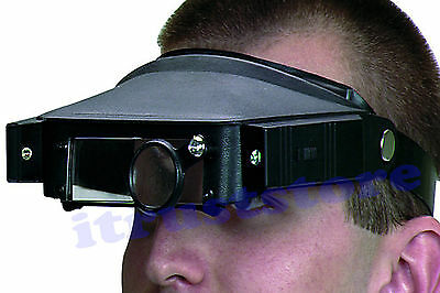 Lighted Magnifying Glasses Eye Strap Magnifier Glass Inspecting Tool Head Band