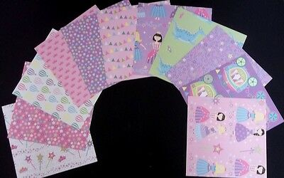 "Beautiful *FAIRYTALE* Scrapbooking/Cardmaking Papers  - 15cm x 15cm  (6""x 6"")"