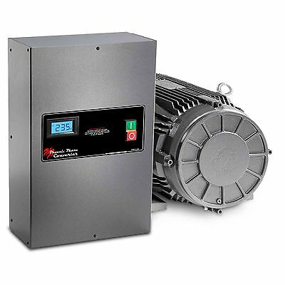 20 HP Rotary Phase Converter - TEFC, Voltage Display, Power Protected - GP20PLV