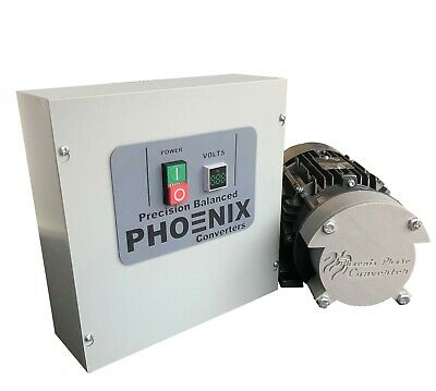 3 HP Rotary Phase Converter - TEFC, Voltage Display, Industrial Grade - GP3PLV