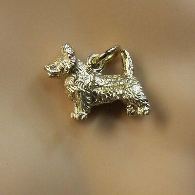 9ct gold new  scottish cairn terrier charm
